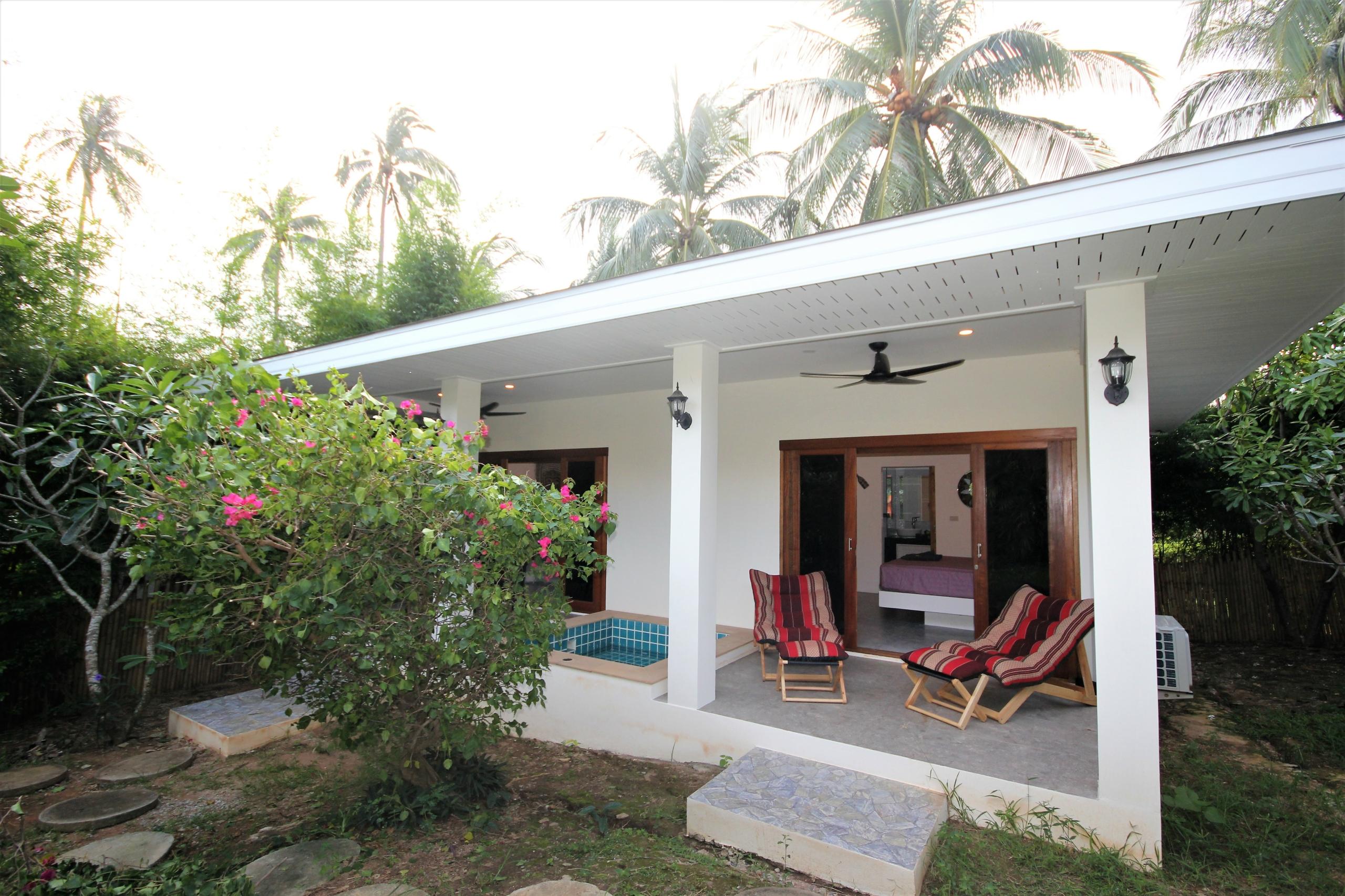 Terrace coco palm